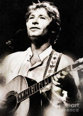 Rock And Roll Paintings - John Denver, Music Legend by John Springfield