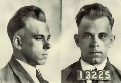 Bonnie And Clyde Digital Art - John Dillinger Mugshot by Dan Sproul