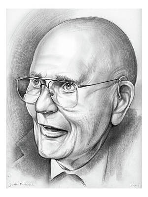 Drawings Royalty Free Images - John Dingell Royalty-Free Image by Greg Joens