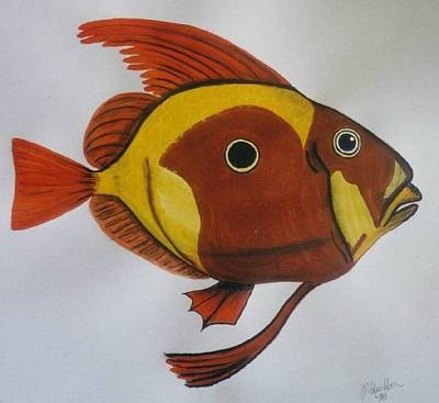 Fish Painting - John Dory by Joan Stratton
