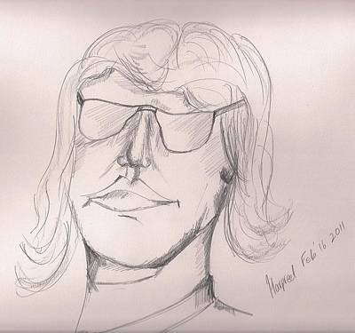 Elton John Drawing - John E by Harpreet Singh