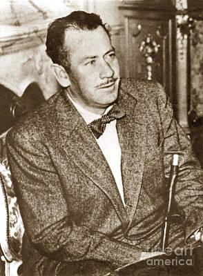 Photograph - John E. Steinbeck December 1950 by California Views Mr Pat Hathaway Archives