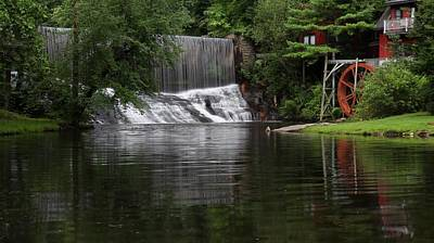 Photograph - John Earles Mill / Rhett Mill Or Lower Millhouse Waterfall by Carol Montoya