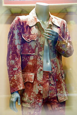 Photograph - John Entwistle's Tie Died Suede Suit by Mike Martin