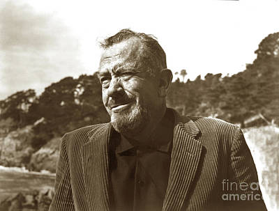 Photograph - John Ernst Steinbeck, Pebble Beach, California 1960  by California Views Mr Pat Hathaway Archives