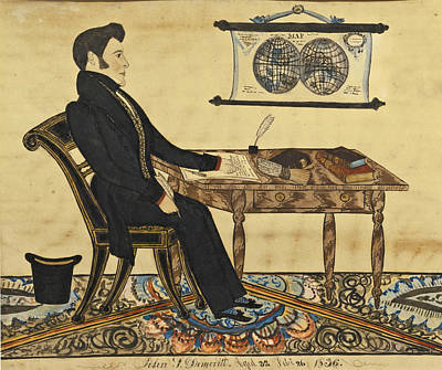 Joseph H Davis Drawing - John F. Demeritt by Joseph H Davis