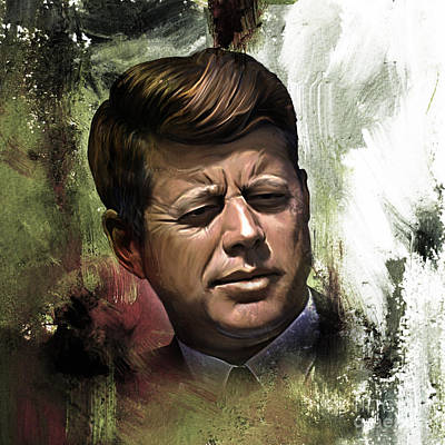 Abstract Painting - John F. Kennedy 01 by Gull G