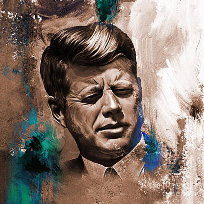 Libertarian Party Painting - John F. Kennedy 02 by Gull G