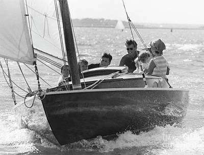 John F. Kennedy And Family Art Print
