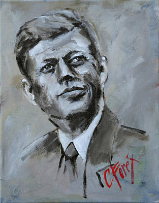 Painting - John F Kennedy by Carole Foret