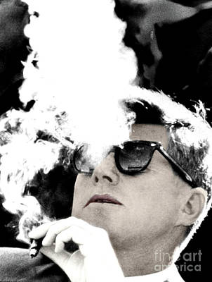 Photograph - John F Kennedy Cigar And Sunglasses by Doc Braham