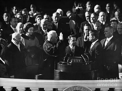Inauguration Photograph - John F. Kennedy by Granger