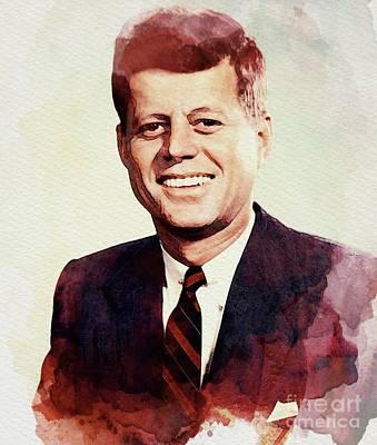 President Kennedy Digital Art - John F. Kennedy by John Springfield
