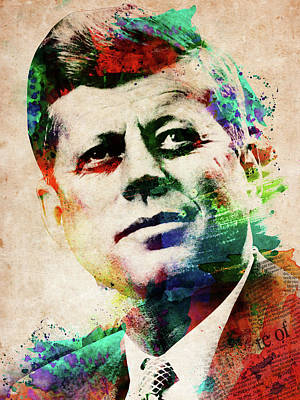 Digital Art - John F Kennedy  by Mihaela Pater