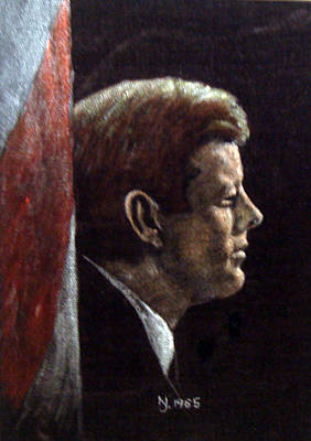 Painting - John F. Kennedy by Norman F Jackson