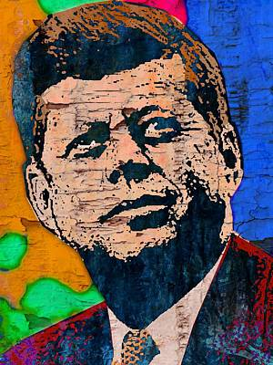 Democratic Mixed Media - John F Kennedy by Otis Porritt
