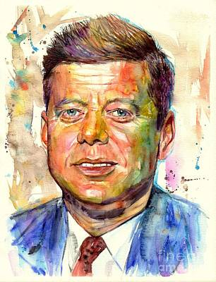 Harvard Wall Art - Painting - John F. Kennedy Painting by Suzann's Art