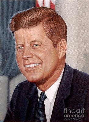 Pastel - John F. Kennedy by Stephen Shub