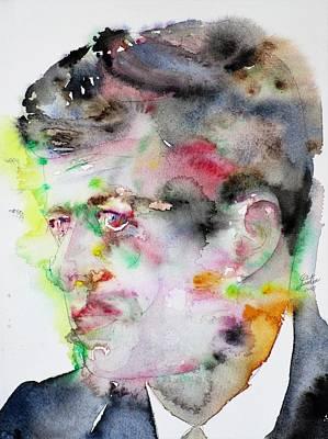 Painting - John F. Kennedy - Watercolor Portrait.4 by Fabrizio Cassetta