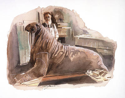 Painting - John Fannin And The Walrus by David Lloyd Glover