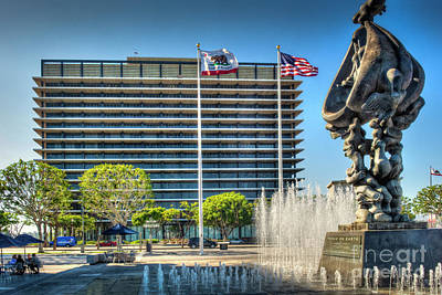 Photograph - John Ferraro Building Ladwp  by David Zanzinger