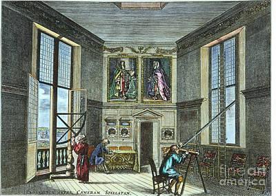 Photograph - John Flamsteed, C. 1700 by Granger