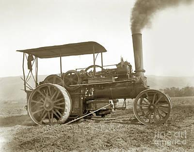 Photograph - John Flower - Co. Leeds Steam Trcker Circa 1895 by California Views Mr Pat Hathaway Archives