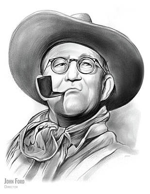 Drawings Rights Managed Images - John Ford Royalty-Free Image by Greg Joens