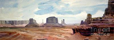 John Ford Point Panorama Art Print by Donald Maier