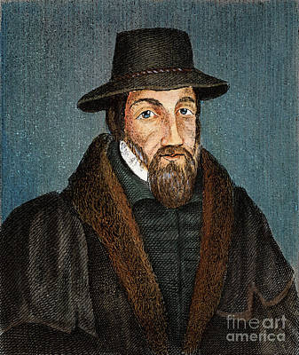 Drawing - John Foxe, 1516-1587 by Granger