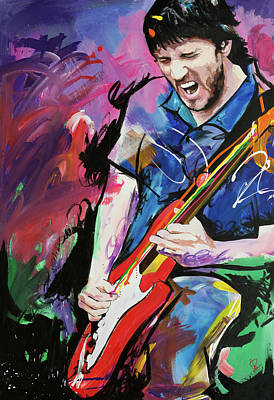 Painting - John Frusciante by Richard Day