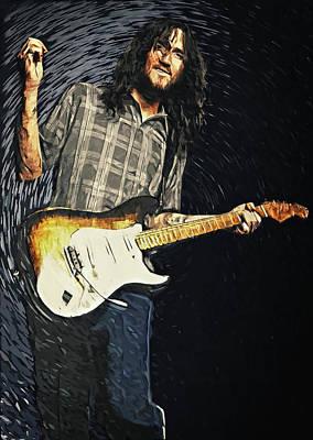 Guitarist Digital Art - John Frusciante by Taylan Apukovska