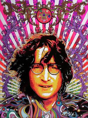 Lennon Mixed Media - John by Gary Kroman