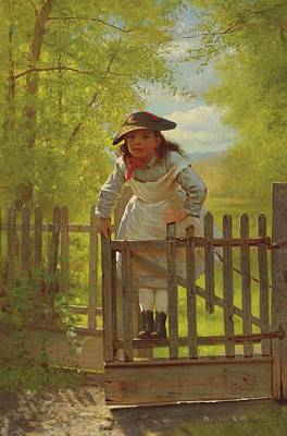 John George Brown The Tomboy 1873 Art Print