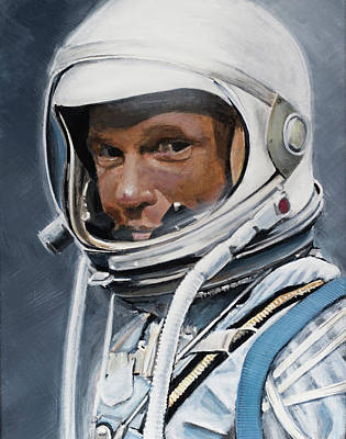 Nasa Painting - John Glenn by Simon Kregar