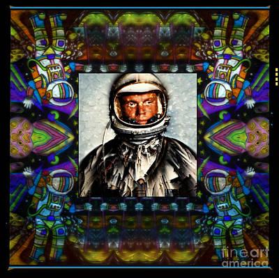 John Glenn Tribute Portrait Art Print