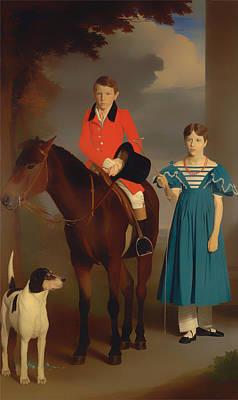 Newton Painting - John Gubbins Newton And His Sister Mary Newton by Mountain Dreams
