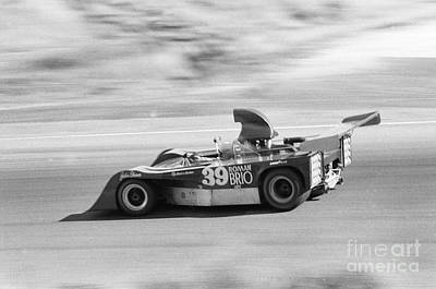 Photograph - John Gunn Lola T260 #hu2 - Chevrolet V8 7000  At Laguna Seca 1973 by California Views Mr Pat Hathaway Archives