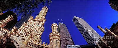 Photograph - John Hancock Building And Water Tower Place by Tom Jelen