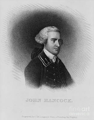Engraved Painting - John Hancock by Celestial Images
