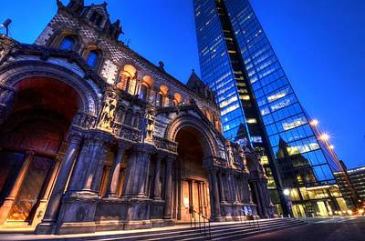 Photograph - John Hancock Tower Trinity Church Boston Ma by Toby McGuire