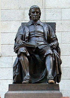 Photograph - John Harvard by T Guy Spencer