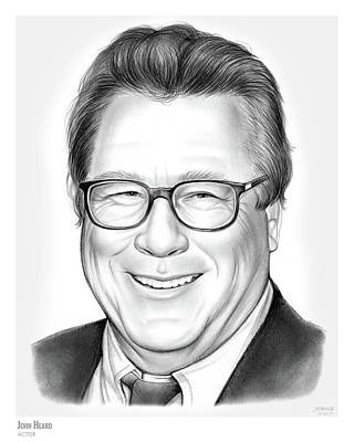Rip Drawing - John Heard by Greg Joens