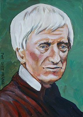 Painting - John Henry Cardinal Newman by Bryan Bustard