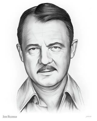 Celebrities Royalty-Free and Rights-Managed Images - John Hillerman by Greg Joens