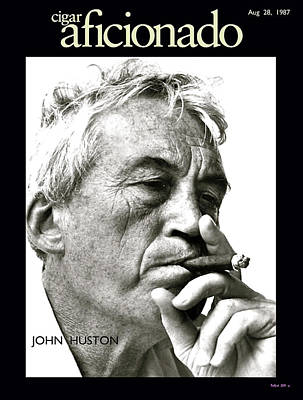 Jack Nicholson Mixed Media - John Huston, Cigar Aficionado by Thomas Pollart
