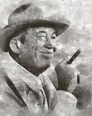 John Huston, Film Director Art Print by Mary Bassett