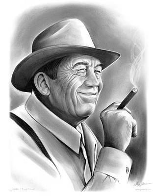 Maltese Drawing - John Huston by Greg Joens