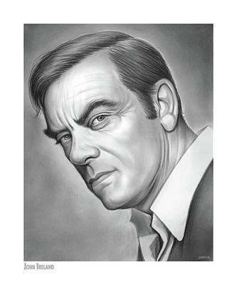 Drawing - John Ireland by Greg Joens
