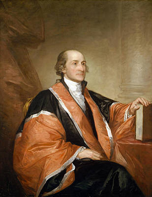 Justice Painting - John Jay, 1794, First Chief Justice Of The United States Supreme Court  by Gilbert Stuart